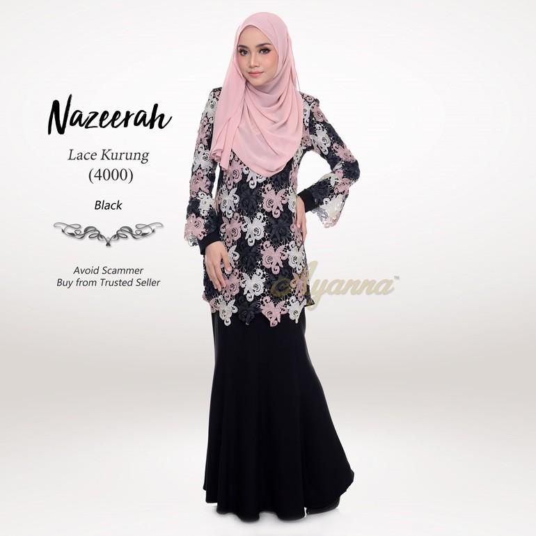 Nazeerah Lace Kurung 4000 (Black)