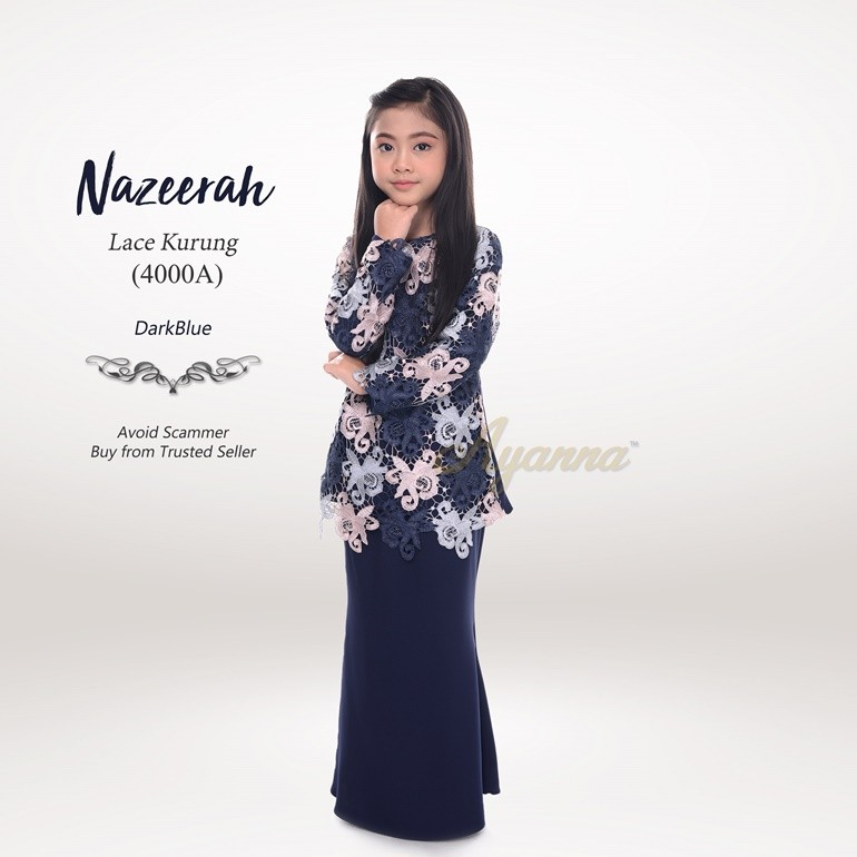 Nazeerah Lace Kurung 4000A (DarkBlue)