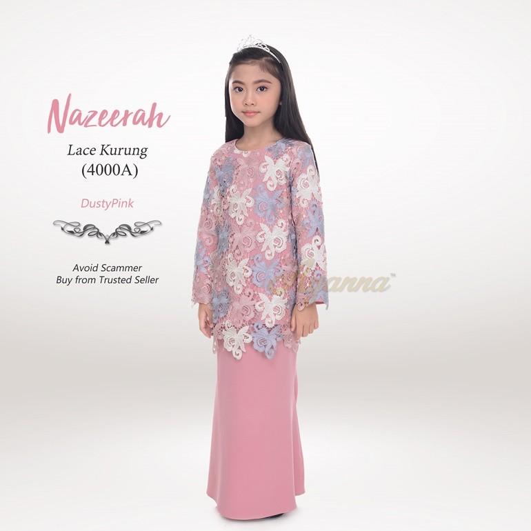 Nazeerah Lace Kurung 4000A (DustyPink)