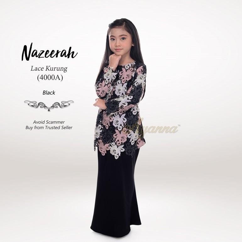 Nazeerah Lace Kurung 4000A (Black)
