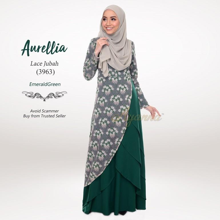 Aurellia Lace Jubah 3963 (EmeraldGreen)
