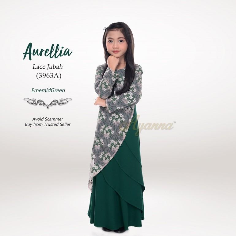 Aurellia Lace Jubah 3963A (EmeraldGreen)