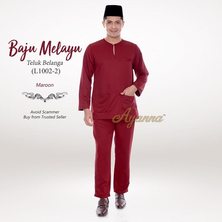 Baju Melayu Teluk Belanga L1002-2 (Maroon)