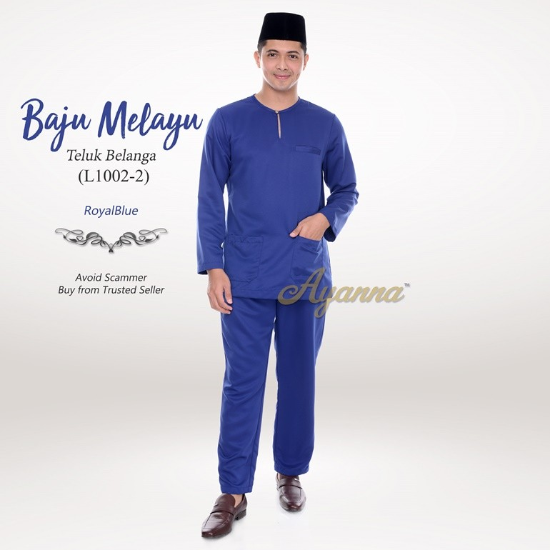 Baju Melayu Teluk Belanga L1002-2 (RoyalBlue)