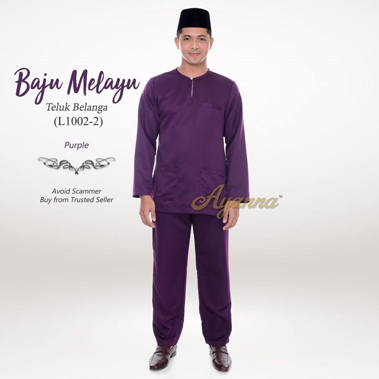 Baju Melayu Teluk Belanga L1002-2 (Purple)