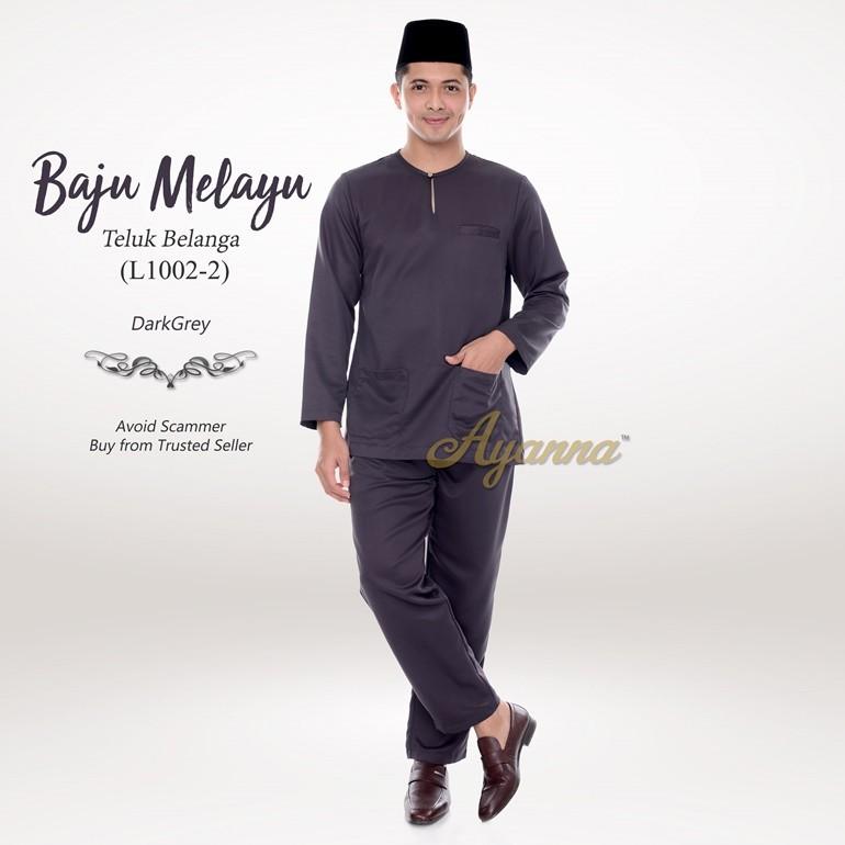 Baju Melayu Teluk Belanga L1002-2 (DarkGrey)