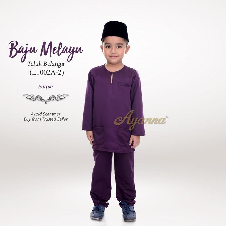 Baju Melayu Teluk Belanga L1002A-2 (Purple)