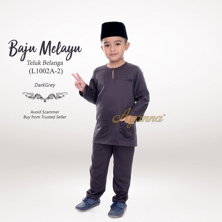 Baju Melayu Teluk Belanga L1002A-2 (DarkGrey)