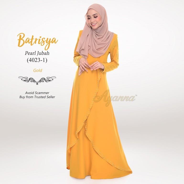 Batrisya Pearl Jubah 4023-1 (Gold)