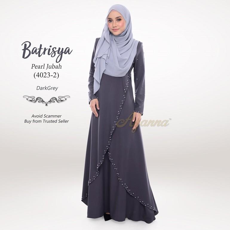 Batrisya Pearl Jubah 4023-2 (DarkGrey)