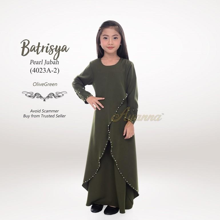 Batrisya Pearl Jubah 4023A-2 (OliveGreen)