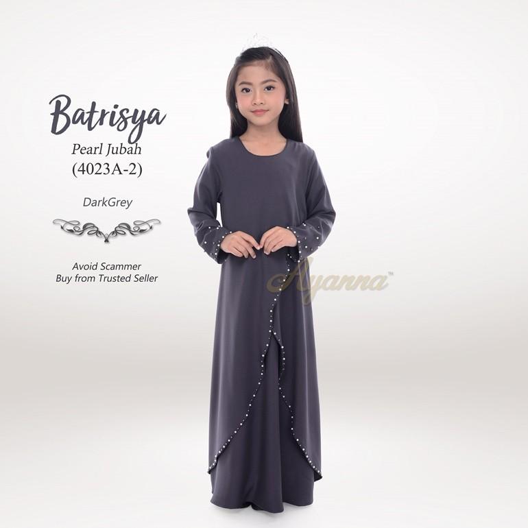 Batrisya Pearl Jubah 4023A-2 (DarkGrey)