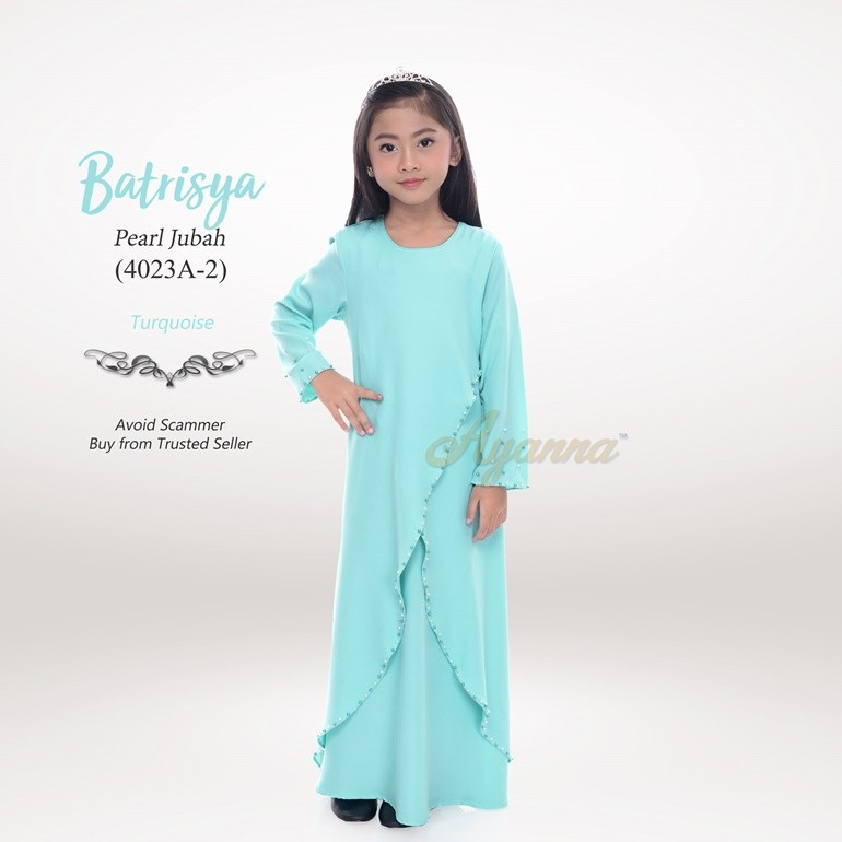 Batrisya Pearl Jubah 4023A-2 (Turquoise)
