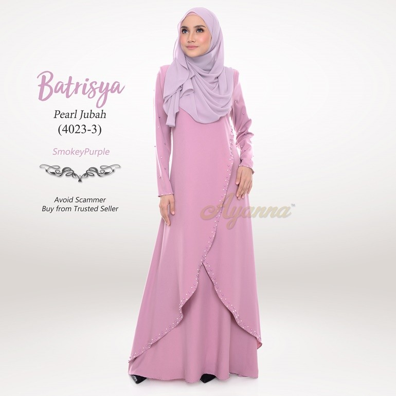 Batrisya Pearl Jubah 4023-3 (SmokeyPurple)
