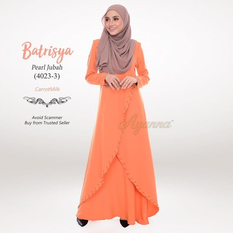 Batrisya Pearl Jubah 4023-3 (CarrotMilk)
