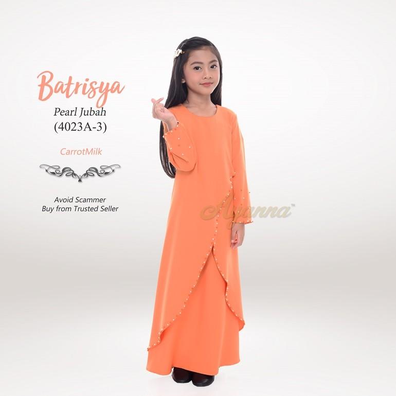 Batrisya Pearl Jubah 4023A-3 (CarrotMilk)