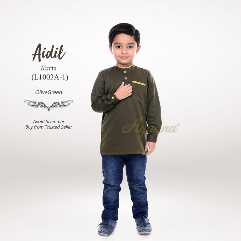 Aidil Kurta L1003A-1 (OliveGreen)