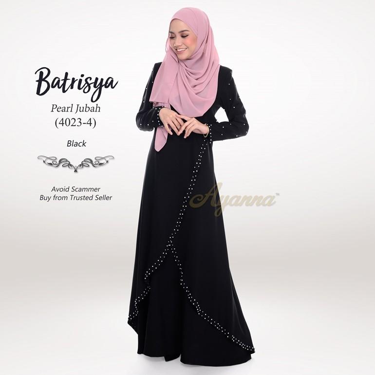 Batrisya Pearl Jubah 4023-4 (Black)
