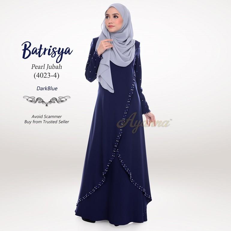 Batrisya Pearl Jubah 4023-4 (DarkBlue)