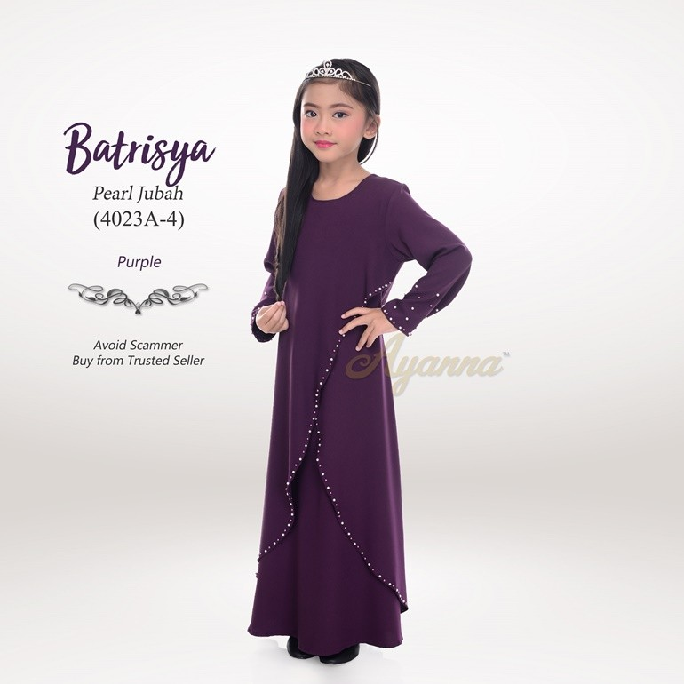 Batrisya Pearl Jubah 4023A-4 (Purple)