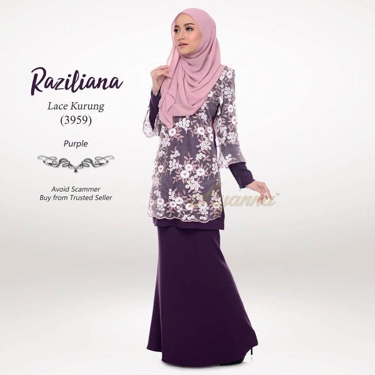 Raziliana Lace Kurung 3959 (Purple)