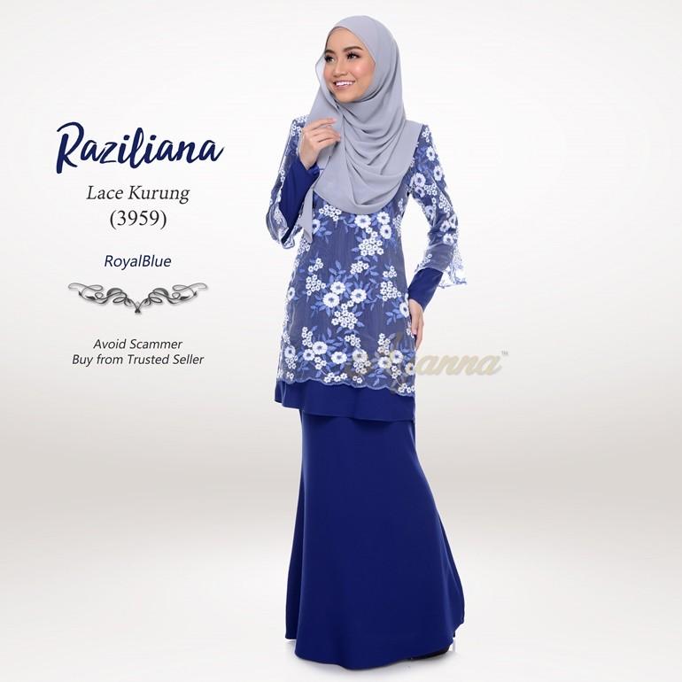 Raziliana Lace Kurung 3959 (RoyalBlue)