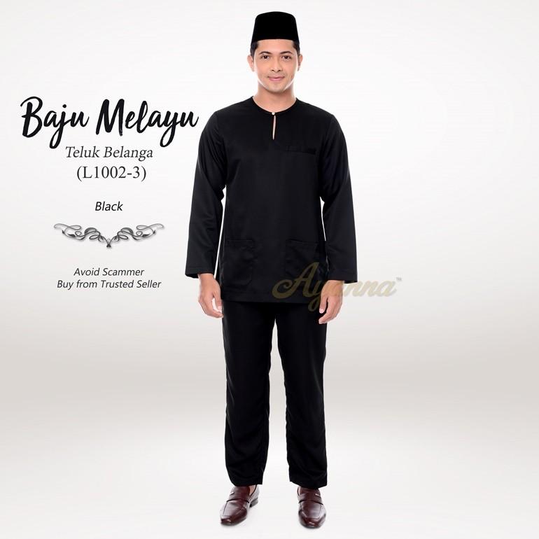 Baju Melayu Teluk Belanga L1002-3 (Black)