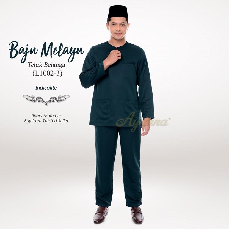 Baju Melayu Teluk Belanga L1002-3 (Indicolite)