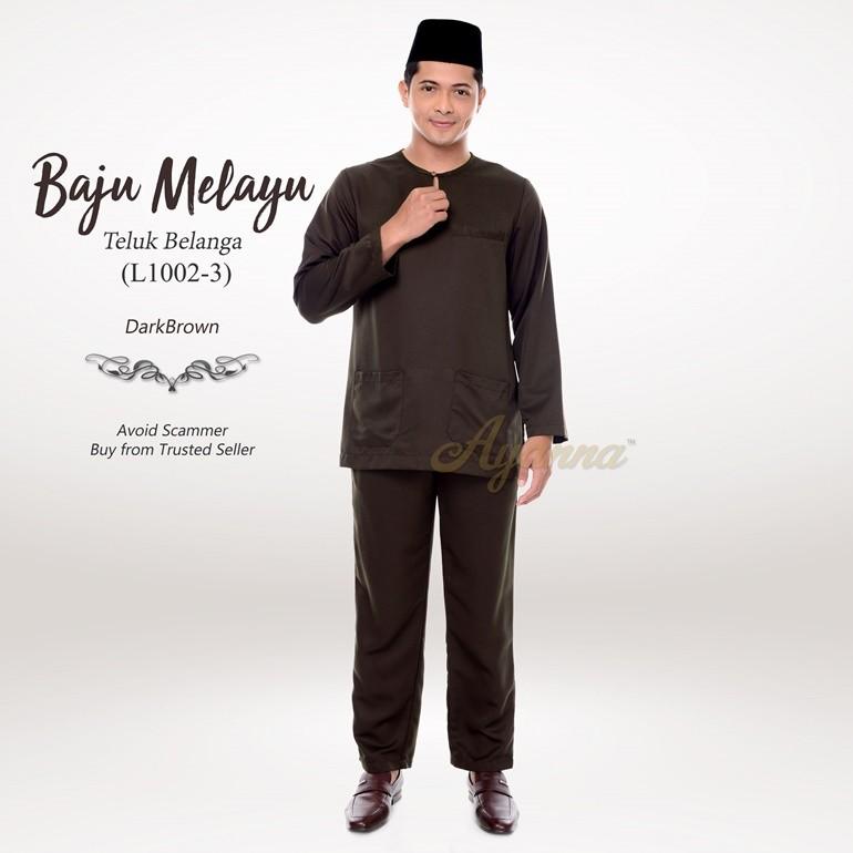 Baju Melayu Teluk Belanga L1002-3 (DarkBrown)