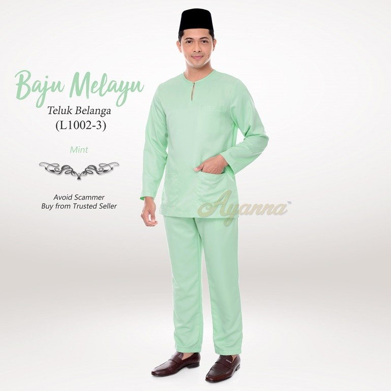 Baju Melayu Teluk Belanga L1002-3 (Mint)