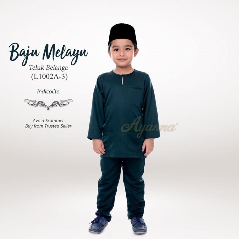 Baju Melayu Teluk Belanga L1002A-3 (Indicolite)