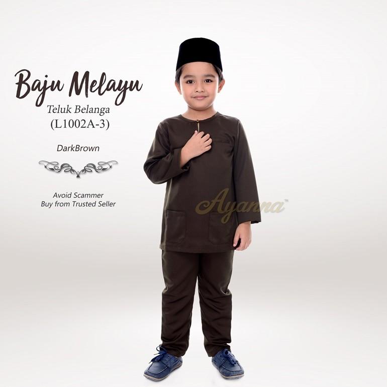 Baju Melayu Teluk Belanga L1002A-3 (DarkBrown)