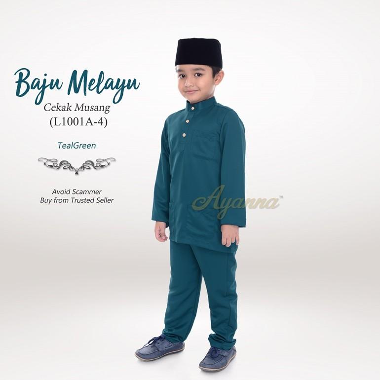 Baju Melayu Cekak Musang L1001A-4 (TealGreen)
