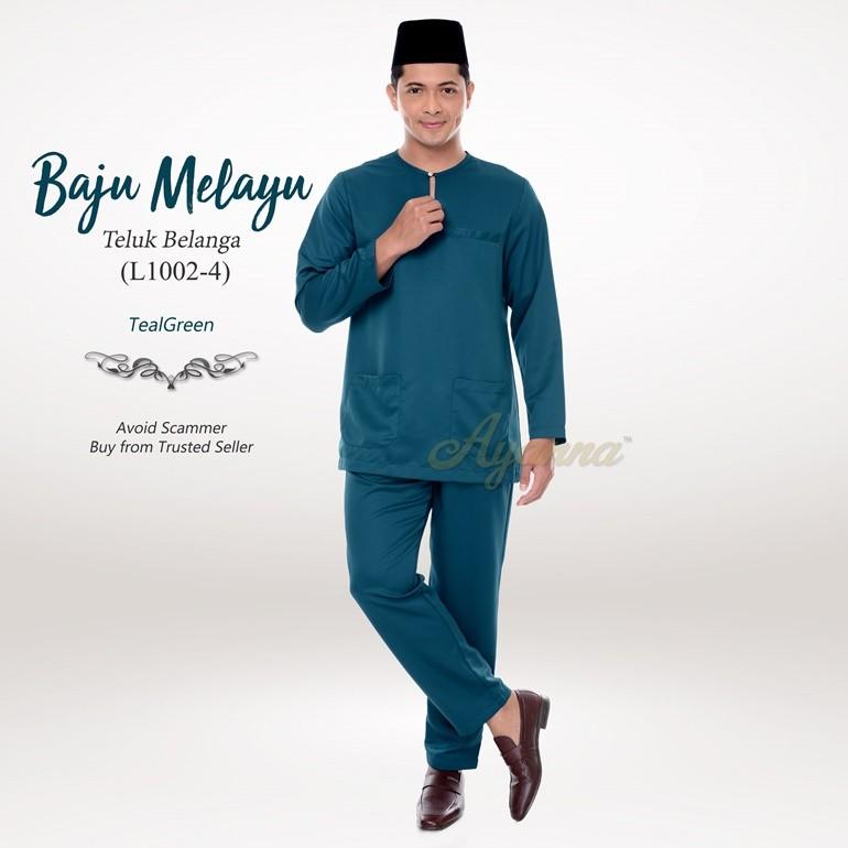 Baju Melayu Teluk Belanga L1002-4 (TealGreen)