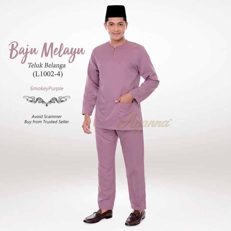 Baju Melayu Teluk Belanga L1002-4 (SmokeyPurple)