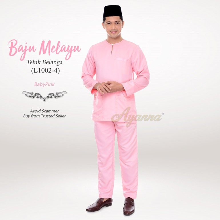 Baju Melayu Teluk Belanga L1002-4 (BabyPink)
