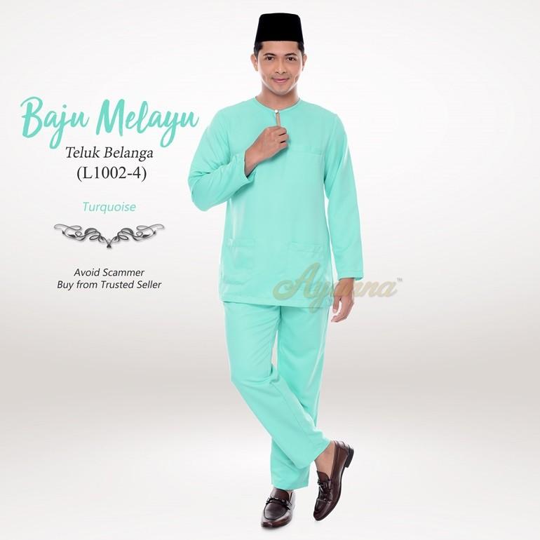 Baju Melayu Teluk Belanga L1002-4 (Turquoise)