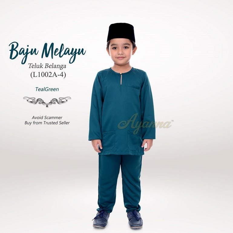 Baju Melayu Teluk Belanga L1002A-4 (TealGreen)