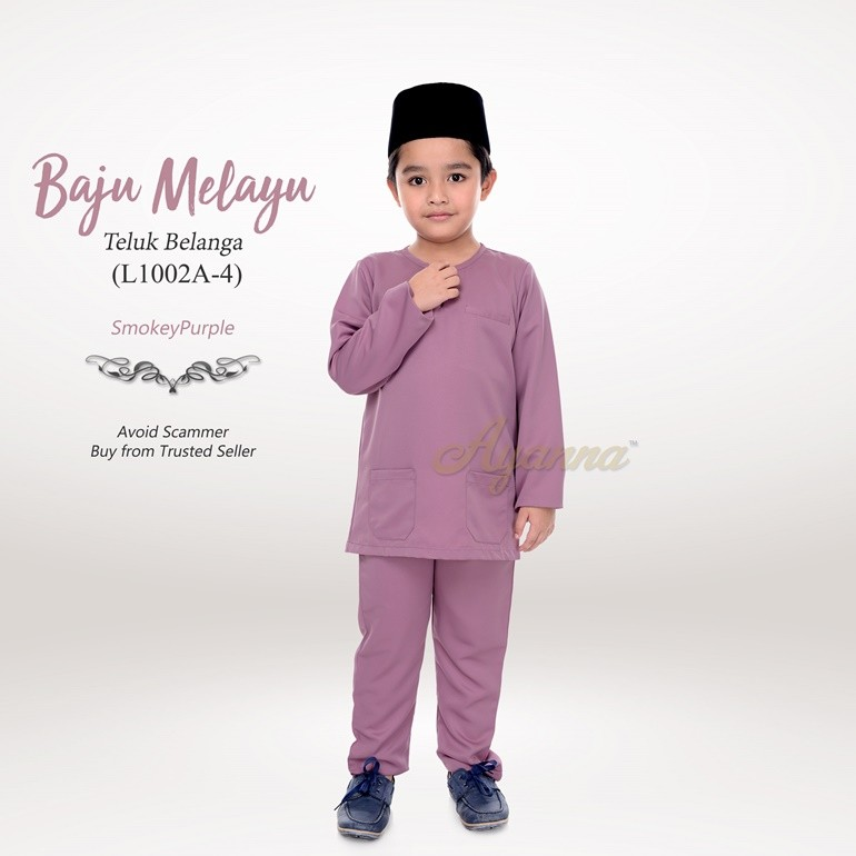 Baju Melayu Teluk Belanga L1002A-4 (SmokeyPurple)