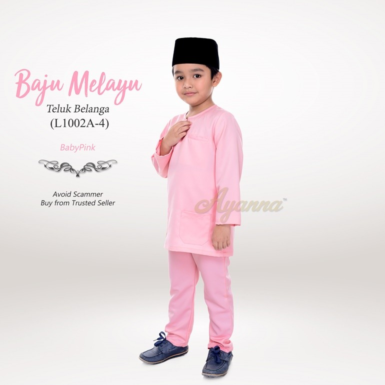 Baju Melayu Teluk Belanga L1002A-4 (BabyPink)