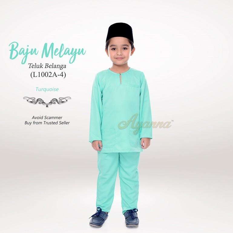 Baju Melayu Teluk Belanga L1002A-4 (Turquoise)