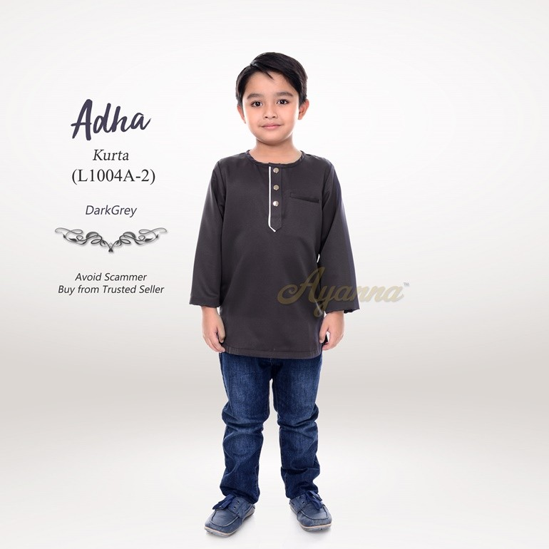 Adha Kurta L1004A-2 (DarkGrey)
