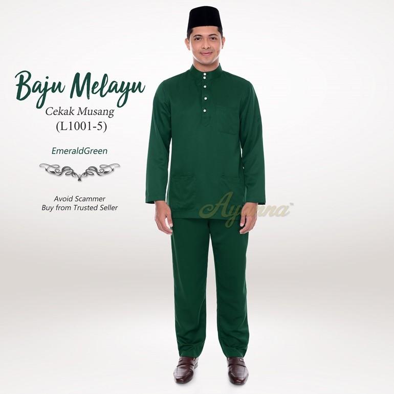 Baju Melayu Cekak Musang L1001-5 (EmeraldGreen)