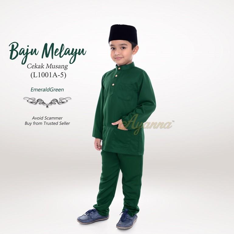 Baju Melayu Cekak Musang L1001A-5 (EmeraldGreen)