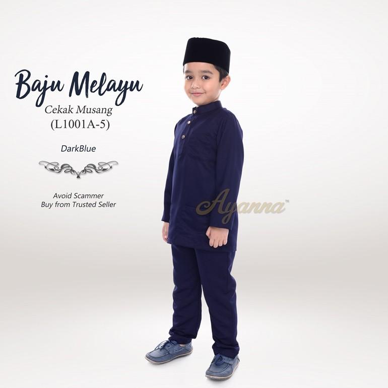 Baju Melayu Cekak Musang L1001A-5 (DarkBlue)
