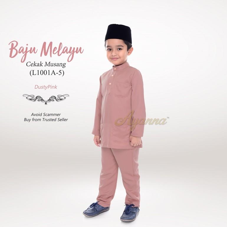 Baju Melayu Cekak Musang L1001A-5 (DustyPink)