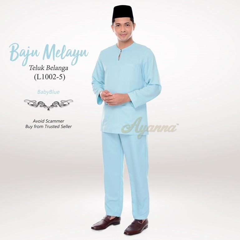 Baju Melayu Teluk Belanga L1002-5 (BabyBlue)