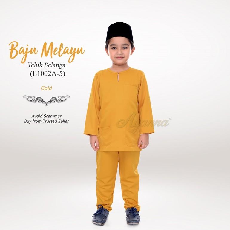 Baju Melayu Teluk Belanga L1002A-5 (Gold)