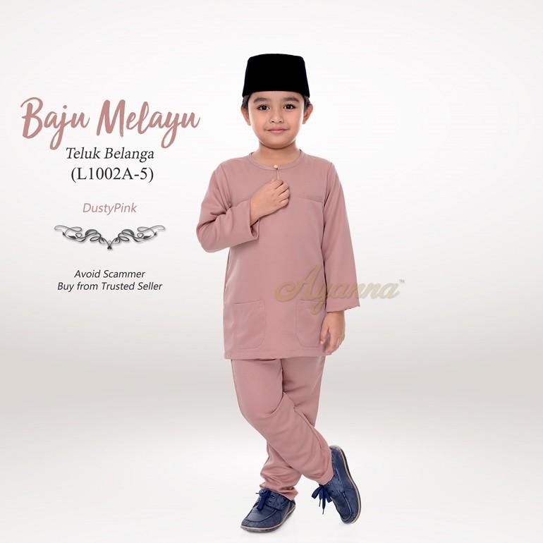 Baju Melayu Teluk Belanga L1002A-5 (DustyPink)