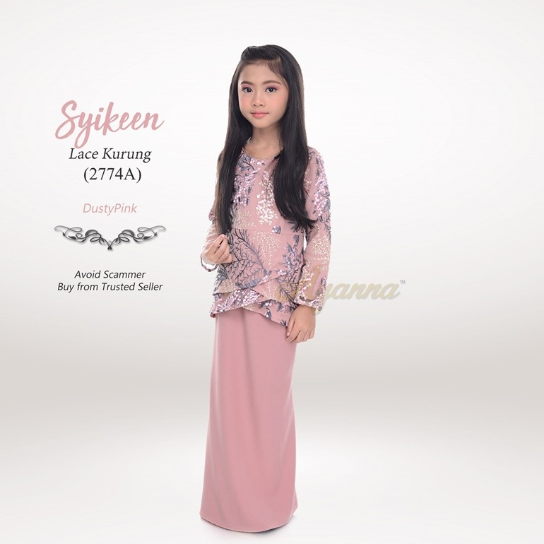 Syikeen Lace Kurung 2774A (DustyPink)
